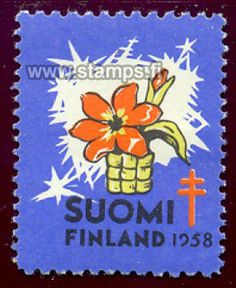 1958 Kukka You Are The World, Postage Stamps, Finland, Floral, Christmas, Design, Seals, Historia, Xmas