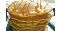 Resep Fluffy Pancake favorit. Menu brunch hari ini 😆 source from ci tintin on Instagram. Dihidangkan bersama caramel sauce / maple syrup. Cocok untuk sarapan atau bekal anak ke sekolah.