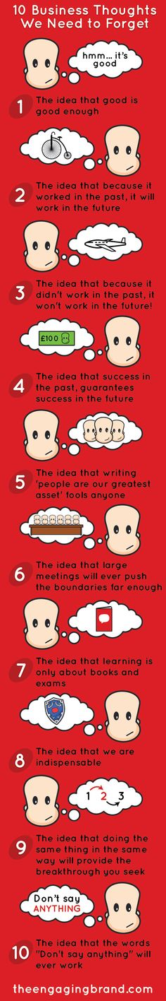 10 business thoughts we need forget #infographic