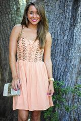 Free Your Soul Dress: Peach