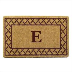Outdoor Décor-Creative Accents Heavy Duty Coco Mat with Evergreen Border 22 by 36Inch Monogrammed G *** Find out more about the great product at the image link.