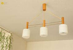 60s Danish 3 Glass Pendant Lamp Mid Century von VintageGermanClocks