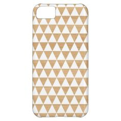 Modern tribal geometric triangle striped studs Andes pattern on a light faux wood photo background Aztec hipster print iphone 5C case / cover. #triangles