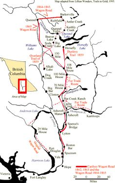 The Cariboo Gold Rush Overview and Historical Map