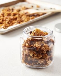 The Key Ingredient for Crunchy Granola Clusters (Kitchn Maple Granola Recipe, Granola Clusters, Granola Bars, How To Make Granola, Crunchy Granola, Dried Apples, Thing 1, Desserts, Postres