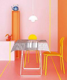Toalha de Mesa, no estilo Mondrian