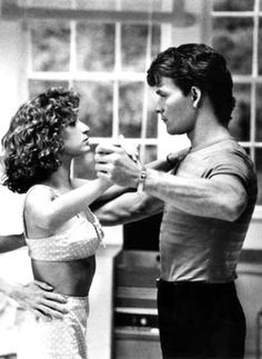 Patrick Swayze and Jennifer Grey - Favourite Film EVER! Dirty Dancing, Hungry Eyes (theme from this scene), photograph, photo b/w Jennifer Grey, Movie Stars, Movie Tv, Lets Dance, Janet Jackson, Film Serie, Mariah Carey, Great Movies, Johnny Depp