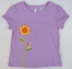 Gymboree Sunflower Smiles Lilac Flower Mouse Short Sleeve Shirt Sz 5 5T NWT #Gymboree #DressyEveryday