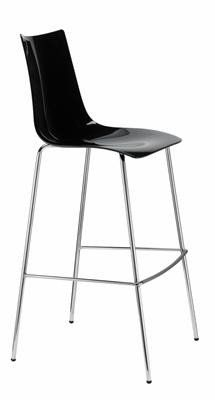 Zebra  Modern Plastic High Bar Stool 80cm in Black - AU$259 u2013   sc 1 st  Pinterest & Zebra