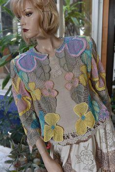 Freeform Crochet, Crochet Art, Filet Crochet, Irish Crochet, Easy Crochet, Crochet Jacket, Crochet Cardigan, Bead Embroidery Jewelry, Crochet Tablecloth