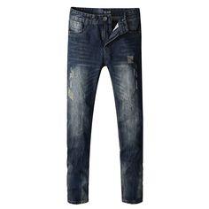2016 New Arrival Fashion Men Jeans Straight Fit Leisure Quality Biker Jeans Denim Trousers Dsel Brand Ripped Jeans men Pants