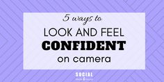 These 5 tips will help you look and feel more confident when you're in front of the camera, doing recorded or live videos.                    #livevideo #livestream #videomarketing #facebooklive #video #periscope #livebroadcasting #socialvideo