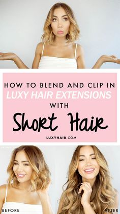 Pia Muehlenbeck shares to us her secrets on blending and clipping in @luxyhair extensions with short hair.