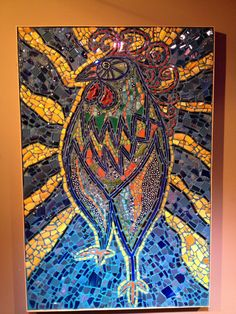 6'x4' mosaic hen,The Rooster's Wife, Aberdeen, NC by LaNelle Davis, 2013
