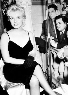 "Marilyn Monroe at a press conference for ""The Prince and the Showgirl"", NYC, 1956."