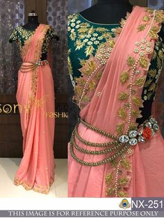 This is a Pink Colored Beautiful Embroidered Chanderi Silk Saree Wedding/Party Wear Bridal Saree. This Saree comes with an attached Banglori Silk blouse fabric. Wear this saree for special occasions, festivals, friends/family get-together, parties, Designer Sarees Wedding, Designer Silk Sarees, Indian Designer Wear, Saree Wedding, Wedding Wear, Wedding Dress, Bollywood Wedding, Bollywood Saree, Half Saree Designs