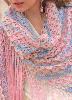 Delicate Shawl free crochet graph pattern