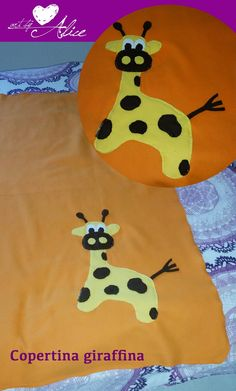 Art by Alice _ DIY - copertina in pile con giraffa in pannolenci
