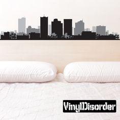 Phoenix Arizona Skyline Vinyl Wall Decal or Car Sticker SS059
