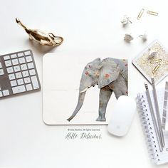 Be Unique with Hello Delicious original design mousepads! Perfect for your college dorm, home or work office. PLEASE NOTE - mouse, keyboard, dinosaur etc. props are not included.  Mousepad is made made from smooth fabric surface with black foam backing. Rectangular shape is sized 9.25 x 7.75 (23.5 x 19.7 cm) with rounded corners. Round shape is sized 8 (20.2 cm) in diameter.  We are very obsessed with color perfection and try our best to reproduce exact same colors. Sometimes color might…
