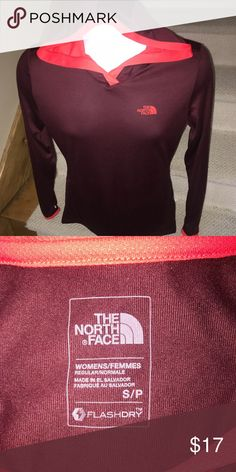 The North Face *Flashdry* women's athletic shirt S Stunning women's The North Face flashdry lightweight athletic shirt that is sized small.  Logo on the chest.  Like new condition.  Wonderful style and quality. The North Face Tops