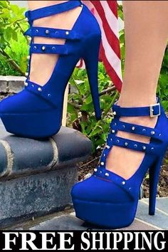 737ee12241db Latest Black Cloth Double Ankle Strap Platform Heels in 2019