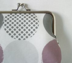 Large coin purse 'Spotted' in Dusty Purple by LouiseBrainwood, £22.00