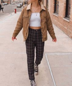 clothes John Galt Sherpa Lined Corduroy Jacket john galt / brandy melville Indie Outfits, Retro Outfits, Cute Casual Outfits, Fall Outfits, Fashion Outfits, Casual Clothes, 90s Style Outfits, 80s Inspired Outfits, Cute Vintage Outfits