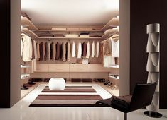 Dressing Room - If you're prepared and able to do your work you on the kitchen table, then you could transform an old study into a fabulous walk in wardrobe or dressing room. Oh, think of the space, think of the glamour!