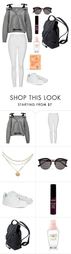 """Day 1"" by triz01 on Polyvore featuring Topshop, Illesteva, adidas Originals, NYX and Skinnydip"