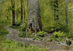 'Footpath in a Forest'  Isaac Levitan  1895