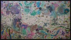Mural fet amb aquarel.la. 3 anys.
