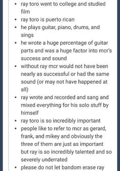 i feel like people don't give enough credit to other members of bands except for like the lead singers,which are important,but the other band members are what makes the band even a thing.