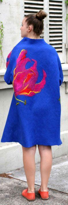Buy the fashion wool coat by Vera Alexanderova. #felt #felting #wool #women #womensfashion #womenclothing #boho #bohochic #bohostyle #bohofashion #unique #uniquegifts #handmade