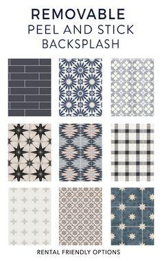 Removable Backsplash, Peel N Stick Backsplash, Peel And Stick Tile, Stick On Tiles, Peel And Stick Wallpaper, Backsplash Tile, Backsplash Ideas, Rental Decorating, Decorating Tips