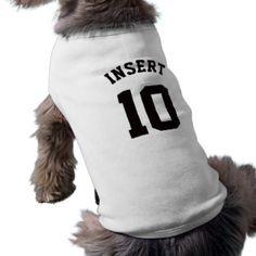 White & Black Pets | Sports Jersey Design T-Shirt