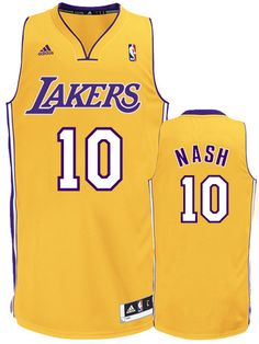 Steve Nash debuts new Los Angeles Lakers uniform, Adidas jersey available now