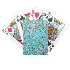 Multicolor Mosaic Modern Grit Glitter #7 Bicycle Playing Cards - home decor design art diy cyo custom