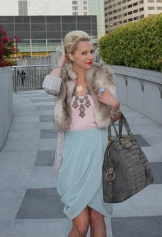 Love The Pastels (as long as that's not a real fur jacket!!!)