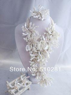 NEW FASHION DESIGN!!! ELEGANT Wrap FLOWER NECKLACE JEWELRY SET LK-890 $93.64
