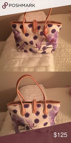 Dooney and Bourke lilac flowers bag rare Dooney and Bourke lilac flowers bag rare Dooney & Bourke Bags Totes