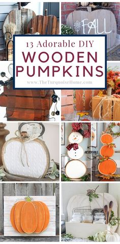 DIY Wooden Pumpkin P