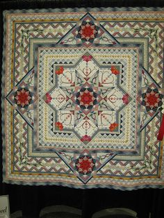 I love this quilt. I want this quilt. Patchwork Quilt, Star Quilts, Applique Quilts, Quilt Blocks, Quilting Projects, Quilting Designs, Quilt Modernen, Quilt Border, Traditional Quilts