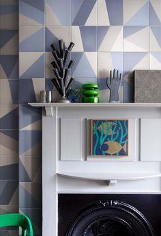 piastrelle ceramiche linea Tangram, designer Atelier Bardelli.