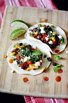 Veggie Tacos with Queso Fresco. Dreamy.