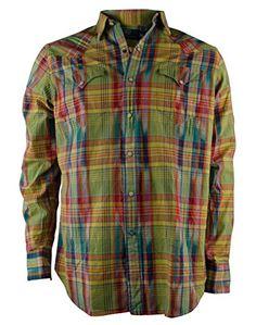 Polo Ralph Lauren Men's Plaid Dobby Western Shirt, Yellow, Small Polo Ralph Lauren
