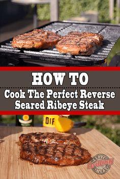 Reverse Seared Ribeye Steak (How To Cook To Perfection) Smoked Kielbasa Recipe, Smoked Bacon, Steak Sandwich Recipes, Steak Recipes, Reverse Sear Steak, Bbq Pitmasters, How To Make Bacon, Beef Bacon, Marinated Steak