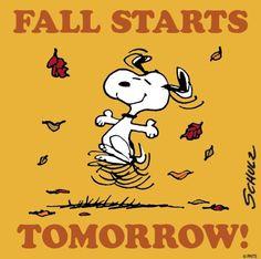 Fall starts tomorrow...