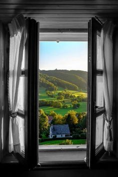 Morning coffee with a window view if Auvergne, France Beautiful World, Beautiful Places, Beautiful Pictures, Window View, Open Window, Belle France, Looking Out The Window, France Photos, Through The Window