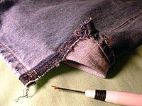 A must know -- Making a skirt out of a pair of jeans.